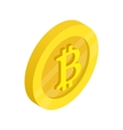 Gold coin with baht sign icon isometric 3d style vector image vector image
