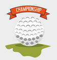 golf club sport game graphic vector image vector image