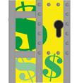 green dollar sign vector image vector image