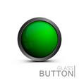 green glass button vector image vector image