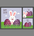 happy easter greeting card set vector image