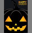 happy halloween pumpkin silhouette greeting vector image vector image