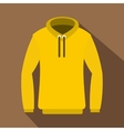 Hoody icon flat style vector image vector image