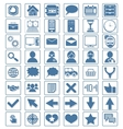 Icon web set vector image vector image