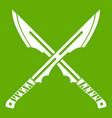 japanese tanto daggersicon green vector image vector image
