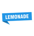 lemonade speech bubble lemonade ribbon sign vector image vector image
