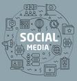 linear social media vector image vector image