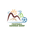 Logo football summar camp fun cartoon logo
