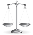 metal balance vector image