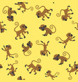 monkeys seamless pattern vector image