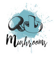 mushrooms hand drawn vector image vector image