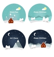 Nature - winter landscape vector image