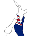 New Zealand hand signal vector image vector image