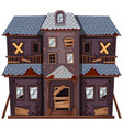 old house in gray color vector image vector image