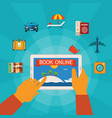 online booking concept vector image vector image