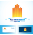 Orange real estate building logo vector image vector image