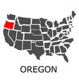 oregon state on usa map vector image vector image