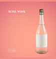 photorealistic bottle of rose sparkling wine on a vector image vector image