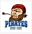 Pirate Mascot with Bandana and pipe vector image vector image