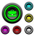 Portfolio buttons set vector image