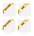 sale gold corner ribbons new best offer best vector image vector image