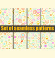 seamless pattern set with geometric figures vector image vector image