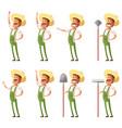 set farmer icons vector image vector image