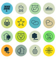 set of 16 eco-friendly icons includes snow clear vector image vector image