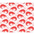Shrimp Pattern vector image vector image