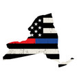 state new york police and firefighter support vector image