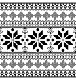 traditional folk black embroidery pattern from ukr vector image vector image