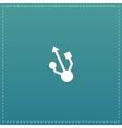 usb icon - vector image vector image