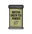 vintage hand drawn matcha green tea vector image