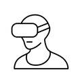 Virtual reality headset VR glasses line icon