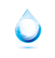 water drop isolated symbol abstract icon vector image vector image