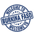 welcome to burkina faso vector image vector image