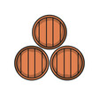 wine cellar icon barrel of icons vector image