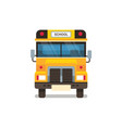 yellow school bus front view pupils transport vector image