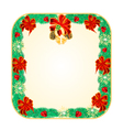 Banner square Christmas Spruce lucky symbols vector image