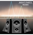 night party music vector image