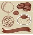 set of vintage coffee elements vector image