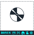 Disc icon flat vector image