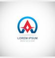 letter a capital company logo vector image