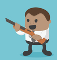 Young African Businessman holding a gun vector image