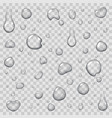 drops of water on transparent background flat icon vector image