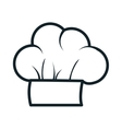 icon hat chef cooking design vector image