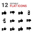 12 like icons vector image vector image