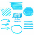 a set blue grunge strokes vector image vector image