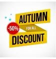 Autumn Sale Discount Logo or Emblem vector image vector image