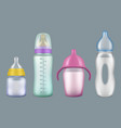 babottle breast milk bottles nutritional vector image